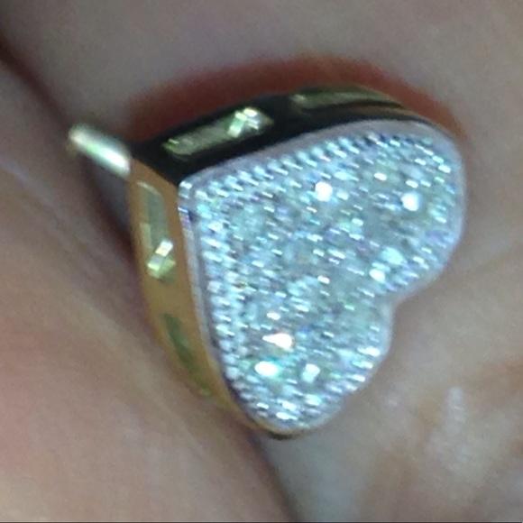 10k diamond single earrings